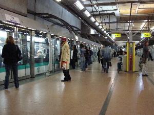 La station Gare de Lyon de la ligne 14, photo Philippe-Enrico-Attal