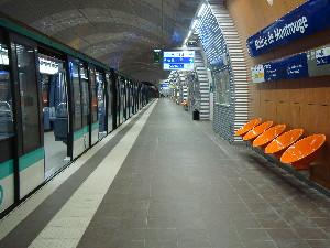 La nouvelle station Mairie de Montrouge à quelques heures de l'ouverture au public, photo Philippe-Enrico Attal