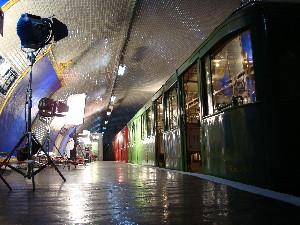 La rame historique Sprague à la station Cinéma, photo Philippe-Enrico Attal