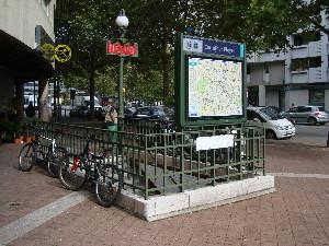 La station Carrefour-Pleyel est appelée à devenir une correspondance entre les lignes 13, 14 et le métro automatique du Grand Paris, photo Philippe-Enrico Attal