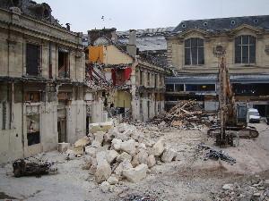 Le buffet de la Gare d'Austerlitz en cours de démolition, photo Philippe-Enrico Attal