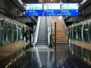 Le nouvel accès créé sur le quai de la ligne 14 à la station Gare-de-Lyon, photo Philippe-Enrico Attal