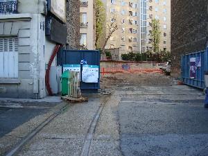Le raccordement vu du côté de la Petite Ceinture, photo Philippe-Enrico Attal