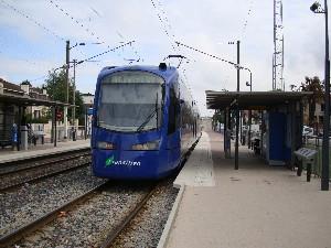 Le tram T4 aux Pavillons-sous-Bois, photo Philippe-Enrico Attal