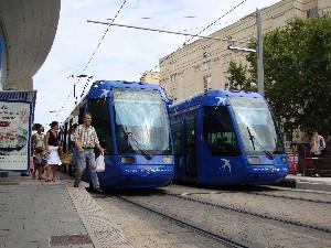 Le tramway Citadis de Montpellier-Philippe-Enrico Attal