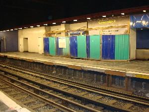 Les travaux d'aménagement à la station Miromesnil, photo Philippe-Enrico Attal