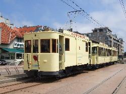 Parade de matériel ancien pour l'anniversaire des trams de la Côte, photo Christian Scheemaekers