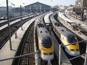 Rames Eurostar en Gare du Nord, photo Philippe-Enrico Attal