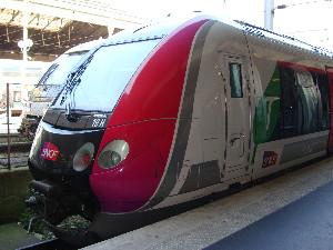Une rame du Francilien vue à la Gare du Nord, photo Philippe-Enrico Attal