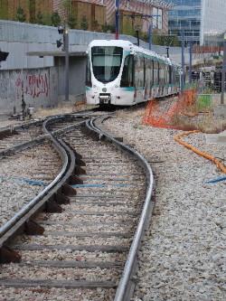 Une rame du T2 en retournement à Issy, photo Philippe-Enrico Attal