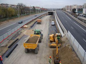 Travaux sur un prolongement du métro parisien en chantier